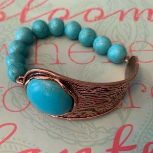 Turquoise copper bracelet NEW
